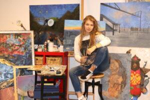 Valeriia Kharlamova's at work