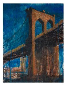 Brooklyn Bridge artist Valeria Kharlamova watercolor 2018