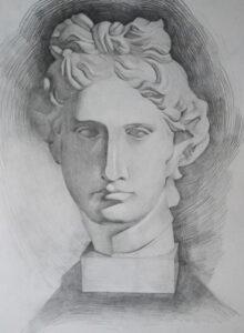 Apollo Portrait artist Valeria Kharlamova 2019